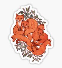 Fox Tangle Sticker