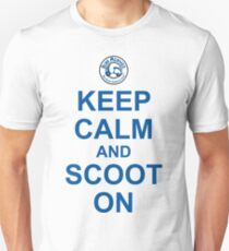 Keep Calm And Scoot On (Blue) Unisex T-Shirt