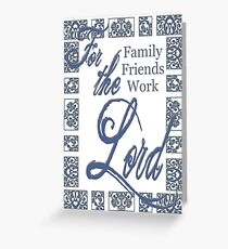 For the Lord-Russian Blue Greeting Card