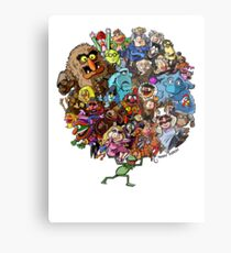 Muppets World of Friendship Metal Print