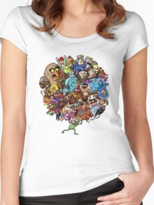 Muppets World of Friendship Women's Fitted Scoop T-Shirt