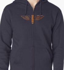 Bomb n Wings Zipped Hoodie