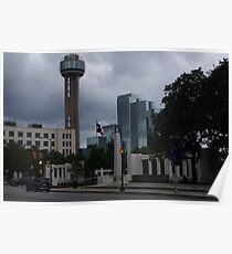 Dealey Plaza - Reuinon Tower - Downtown Dallas - May 2013 Poster