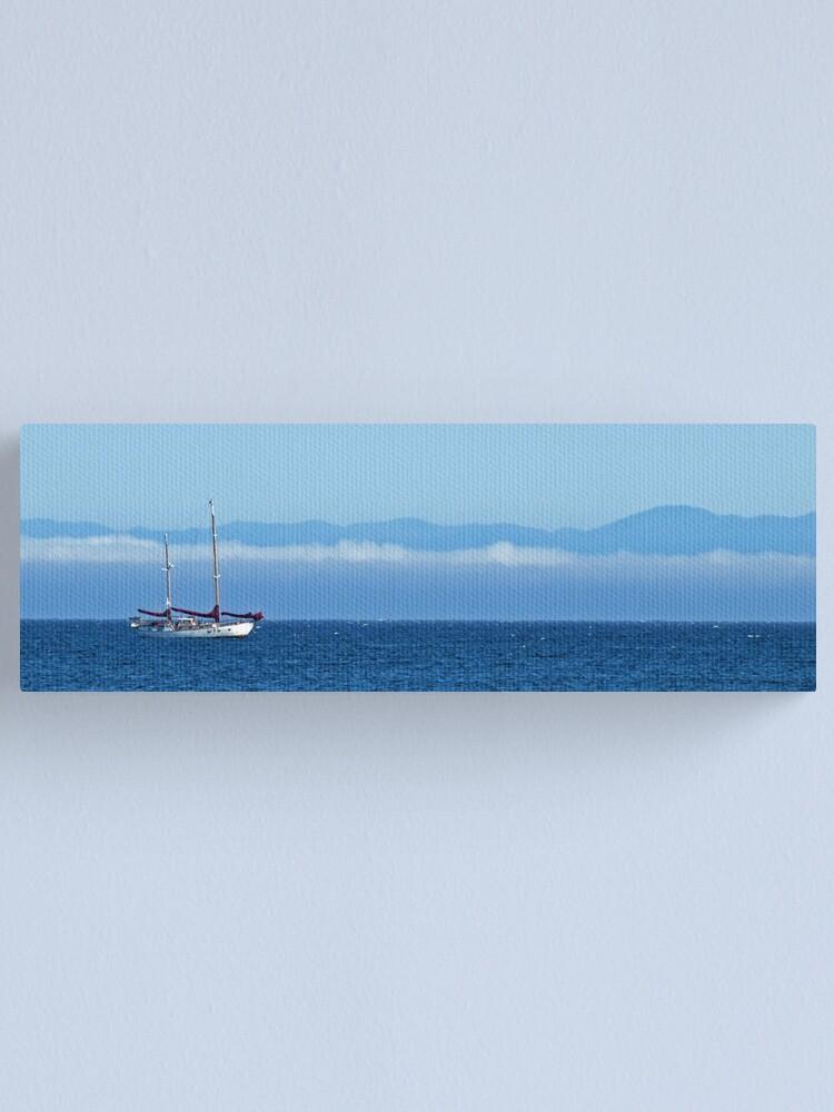 Alternate view of Santa Cruz Ketch Canvas Print