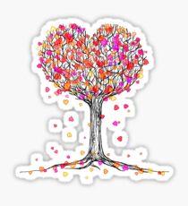 Love in the Fall Sticker