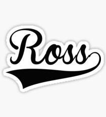 Baseball Style Ross Sticker