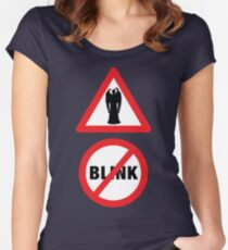 Angels Ahead, Don't Blink! Women's Fitted Scoop T-Shirt