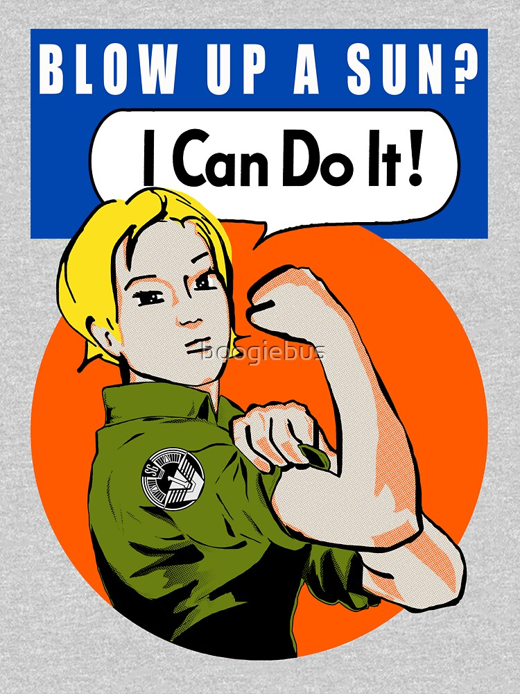 Blow up a sun? - I Can Do It! (not distressed print) by boogiebus