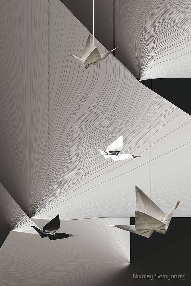 origami.cranes by Nikolay Semyonov