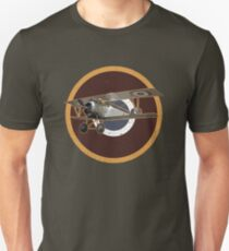 Vintage Look Nieuport fighter biplane on French Emblem T-Shirt