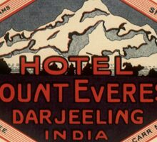 Vintage Mount everest hotel Sticker