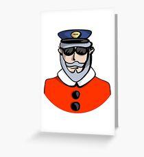 Santa Cop Greeting Card