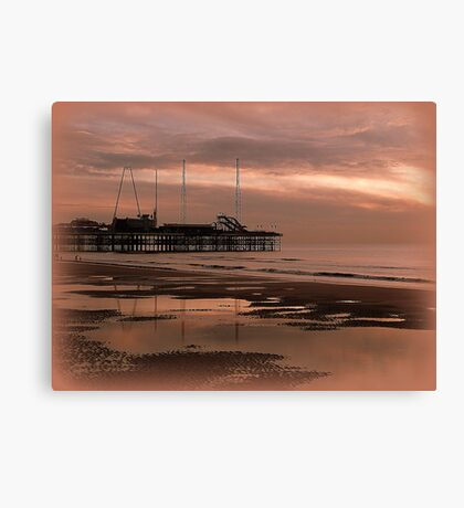 Sunset on South Pier. Canvas Print
