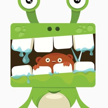 Green Lizardian Monster by yogags