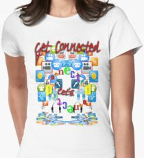 Let's Get Connected Women's Fitted T-Shirt