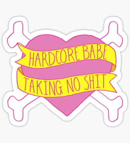 Hardcore Babe Sticker