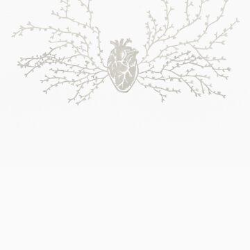 Anatomical Botanical Heart Tee by thethinks