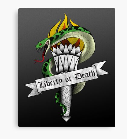 LIberty Or Death Canvas Print