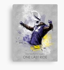 Ray Lewis  |  One Last Ride Canvas Print
