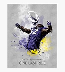 Ray Lewis  |  One Last Ride Photographic Print