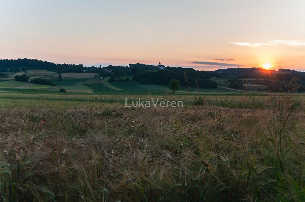 Sunset at the fields by LukaVeren