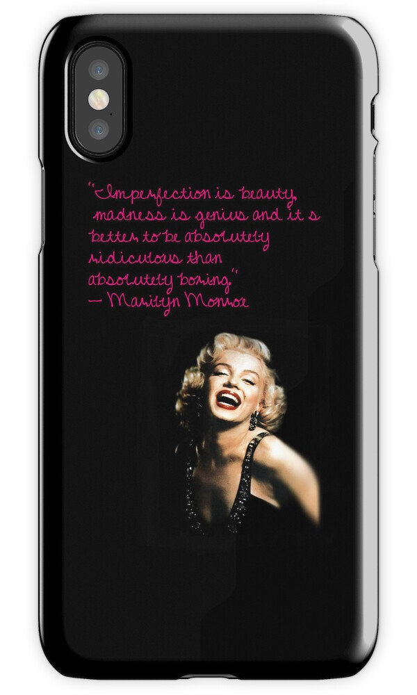 "Iphone 5 Cases Marilyn Monroe Quotes ""Marilyn Monroe q..."
