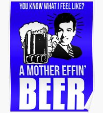 A Mother Effin' Beer Poster