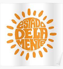 Sunny State of mind Orange Ochre Poster