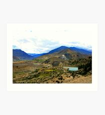 Beautiful view from elephant mountain Art Print