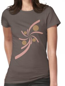Abstract pink brown floral Womens Fitted T-Shirt