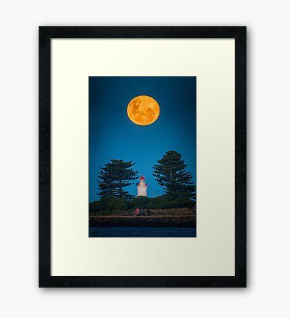 Super Moon of 2013 (No Photoshop) Framed Print