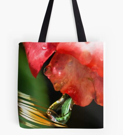 Alien Spitting on a Feather Tote Bag