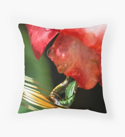 Alien Spitting on a Feather Throw Pillow