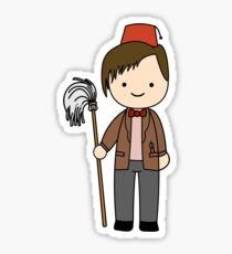 Eleventh Doctor Pandorica Kawaii Cartoon Design Sticker