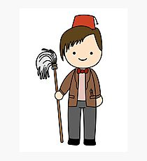 Eleventh Doctor Pandorica Kawaii Cartoon Design Photographic Print