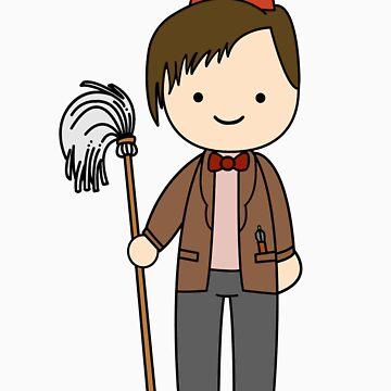 Eleventh Doctor Pandorica Kawaii Cartoon Design by slitheenplanet