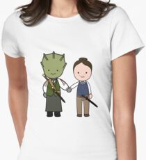 Vastra & Jenny Kawaii Cartoon Design Womens Fitted T-Shirt