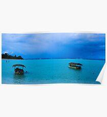 Blue Lagoon, Rarotonga.  Poster