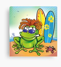 jamaican summer frog Canvas Print