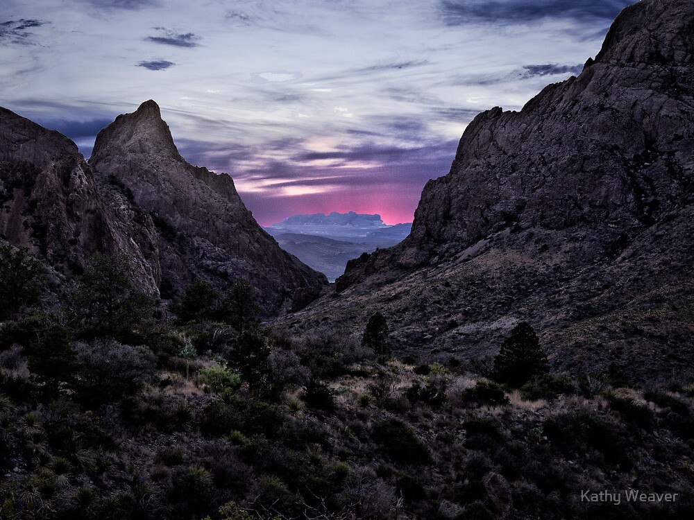 Sunset Through the Window - Big Bend National Park, Texas by Kathy Weaver