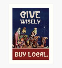 Give Wisely Art Print