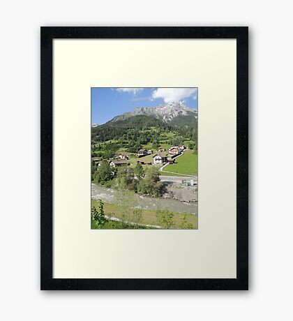 Somewhere between Zurich and Innsbruck Framed Print