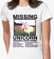 Missing unicorn Women's Fitted T-Shirt