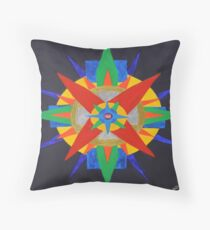 Mayan Gold Throw Pillow