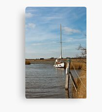 Boat on the Broads Canvas Print