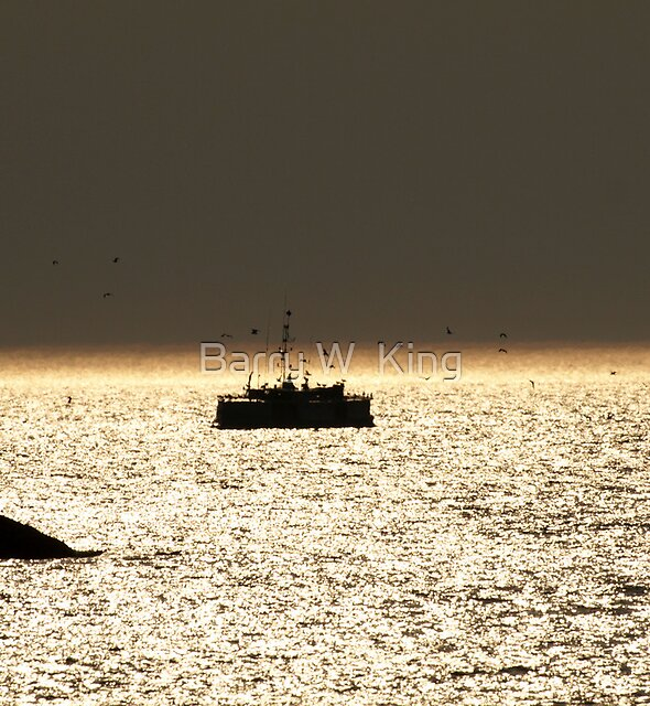 Twilight Fishing by Barry W  King