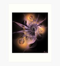 Bokeh flower Art Print