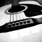 Black and White Guitar by godtomanydevils