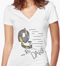 Dovahkiin Shout! - Whiterun Guard.  Women's Fitted V-Neck T-Shirt
