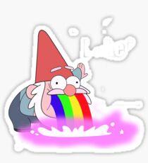 Puking Rainbows (no text) Sticker